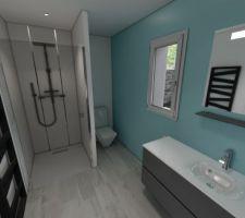 Choix meubles, faience & carrelage - SDB RdC