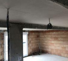 Plâtre plafond