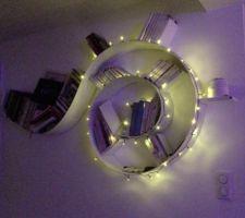 Déco de Noël côté entrée : la bookworm décorée !