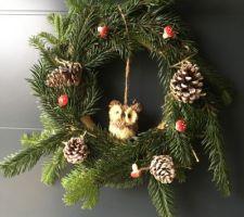 Déco de Noël côté entrée