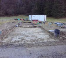 Décapage de la zone garage / accès : terminé