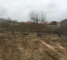 Terrassement et fondations en cours