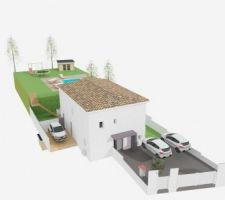 Vue extérieure 3D de la maison