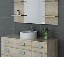Rendu meuble vasque et miroir
