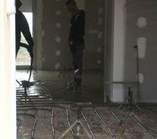 Serpentins pour le chauffage au sol installés