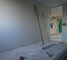 Intérieur d'une des chambres de l'étage