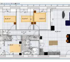 Plan meublé