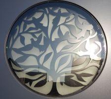 """Vue de détail de notre porte d'entrée, """"l'arbre de vie"""""""