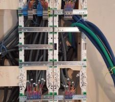 Câblage de la partie domotique