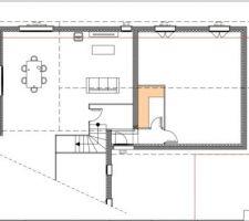 Plan projet garage et dressing entrée