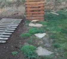 Composteur  Habillage bois avec de la recup