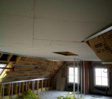 L isolation de l étage quasiment finie