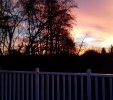 En attendant enedis levé du soleil depuis la terrasse