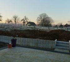 Terrasse finit ; soleil levant !