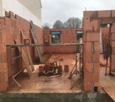 élévation des murs du rez-de-chaussée