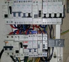 Tableau électrique en cours de refection