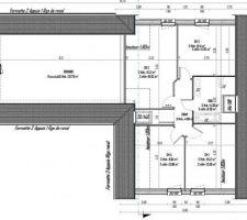 Plan d'aménagement de l'étage