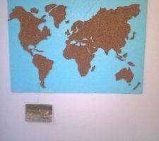 Mappe-monde en liège