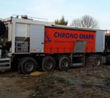 Chape anhydrite - camion