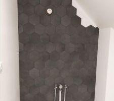 Carrelage mur salle d'eau parentale