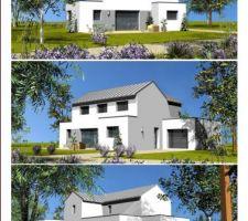 maison toiture zinc dans le morbihan
