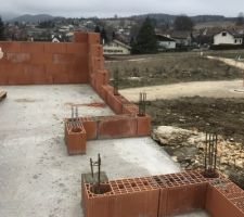 1 semaine de janvier les murs sont commencés . Maintenant la neige arrive