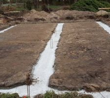 Les fondations avant vide sanitaire