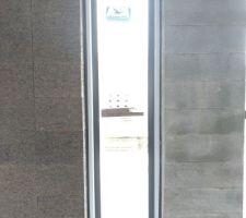 Baie du mur capteur vu de l'intérieur