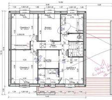 Plan du R+1 modifié par l'architecte (MAP 2)