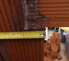 Repose du linteau ( règle du bâtiment stricte minimum 10cm)