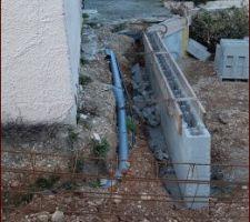 Mur à bancher de soutènement - rampe d'accès (écart très important)