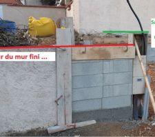 Problème de Maçonnerie ? - Mur d'entrée et sarcophage EDF bien posé par nos maçons de compét !