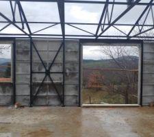 La vue depuis notre futur salon...
