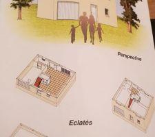 Version intérieure de la maison j ai du faire du sur mesure pour adapter la maison au terrain