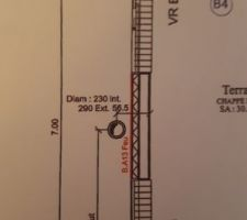 Conduit de cheminée RdC avec plaque BA13 Feu