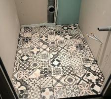 Carrelage WC rez-de-chaussée.