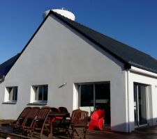 Terrasse terminée...reste à aménager l'extérieur...aux beaux jours