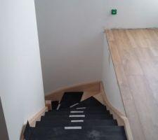 Pose de l'escalier