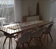 Réception d'une partie des meubles, table new argo kave home