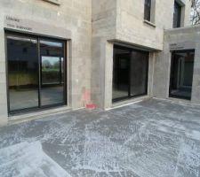 Implantation terrasse arrière