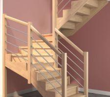 Escalier G15 de chez Plasse