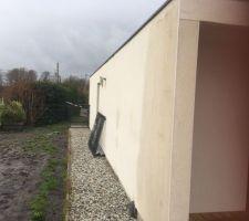 Infiltrations garage mur facade sud