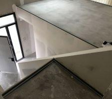 Structure garde corps escalier réalisé par mes soins !