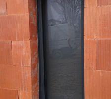Fenêtre ral 7016 sablé opale pour la douche