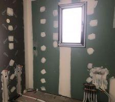 Salle de bains étage- Vue sur meuble double vasque