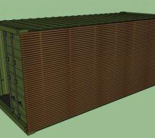 Container avec bardage