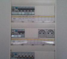 Tableau électrique étiqueté