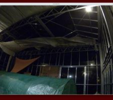 Cette fois la tempête a fait tomber 3 vitres