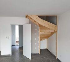 Vue escalier rdc