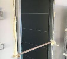 Portes intérieures en cours de pose